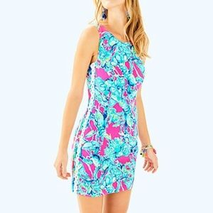 Lilly Pulitzer Mila Shift Dress Lobsters In Love